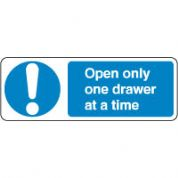 Mandatory Safety Sign - Open One Drawer 115